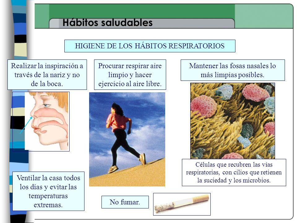 Hábitos saludables HIGIENE DE LOS HÁBITOS RESPIRATORIOS