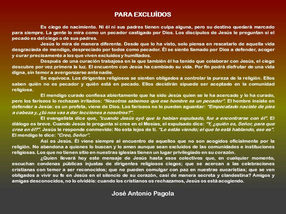 PARA EXCLUÍDOS José Antonio Pagola