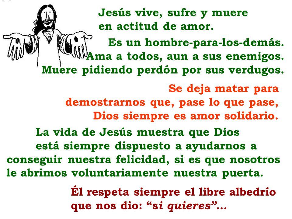 Jesús vive, sufre y muere