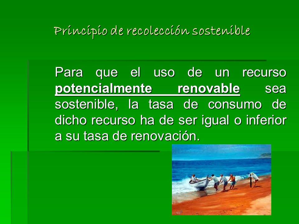 Principio de recolección sostenible