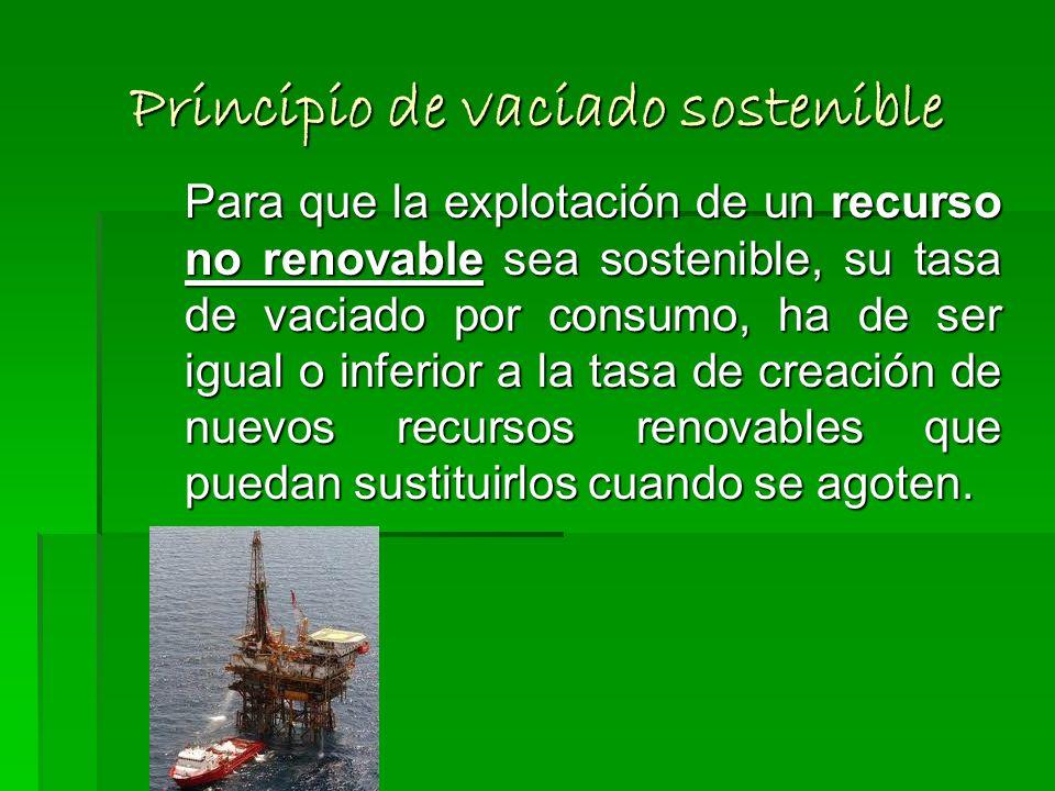 Principio de vaciado sostenible