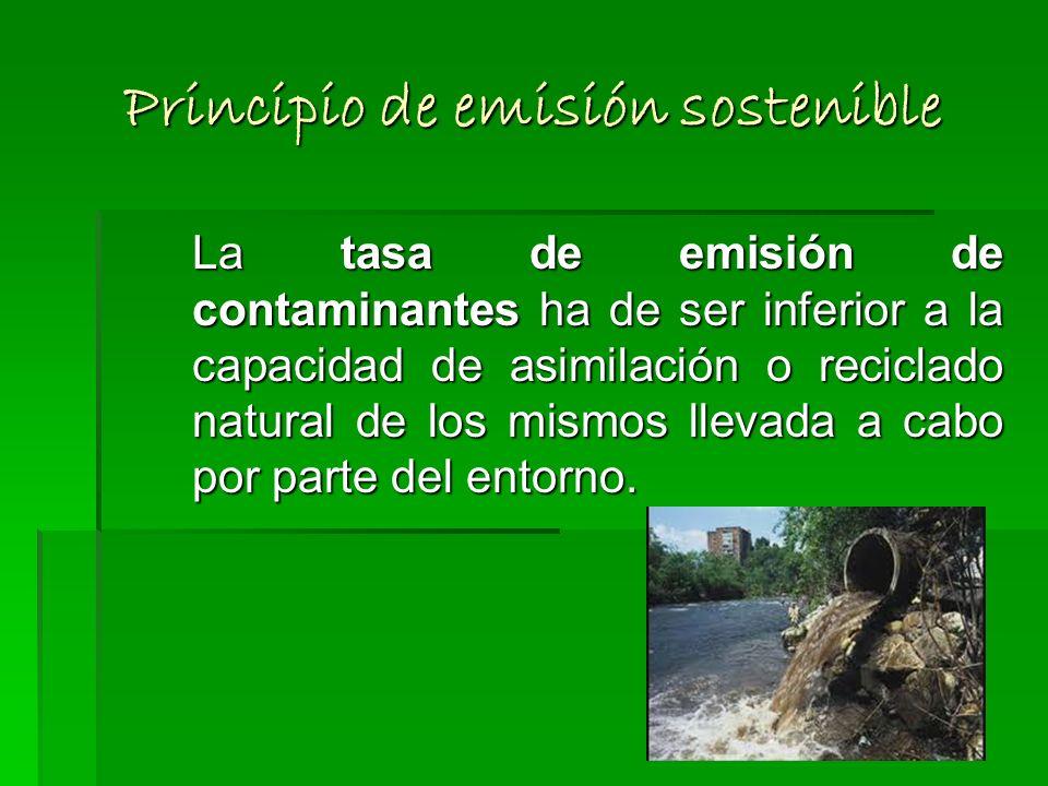 Principio de emisión sostenible