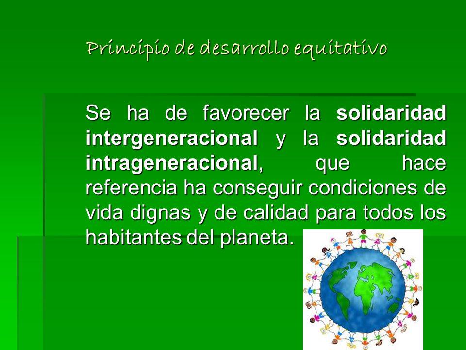Principio de desarrollo equitativo