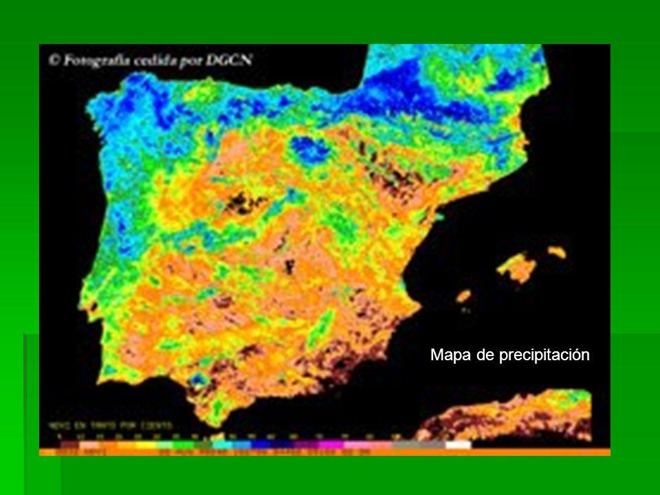 Mapa de precipitación