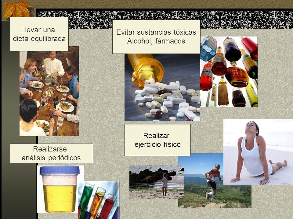 Evitar sustancias tóxicas