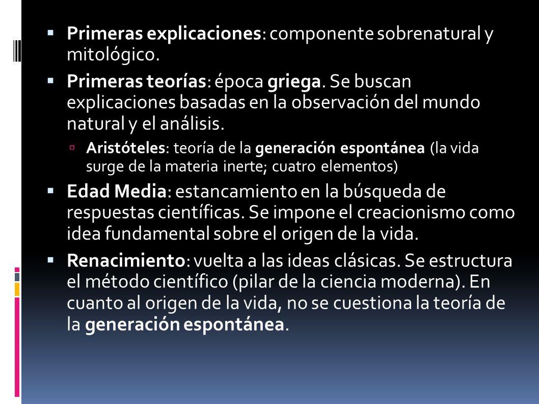Primeras explicaciones: componente sobrenatural y mitológico.