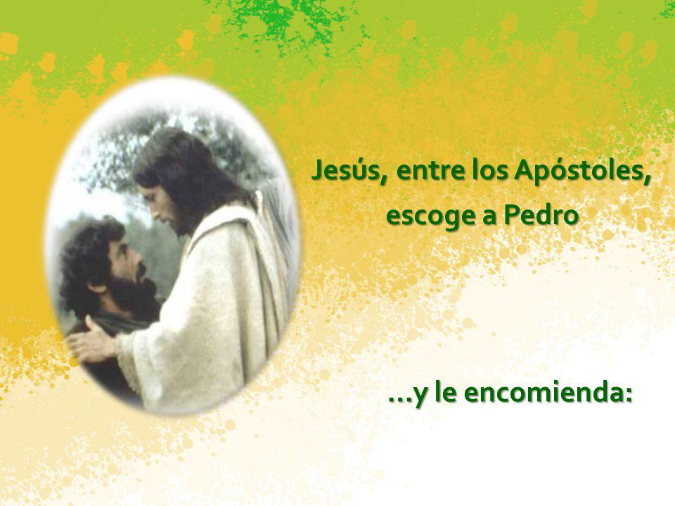 Jesús, entre los Apóstoles,