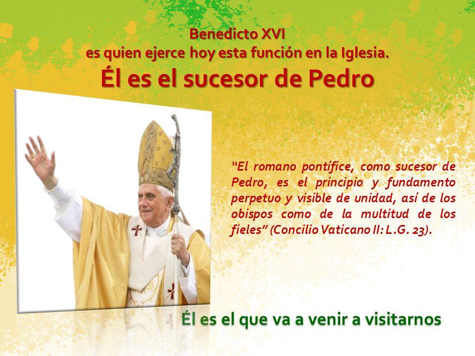 Él es el sucesor de Pedro