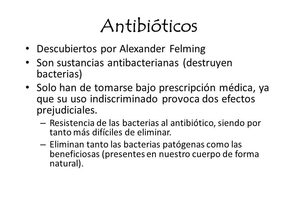 Antibióticos Descubiertos por Alexander Felming