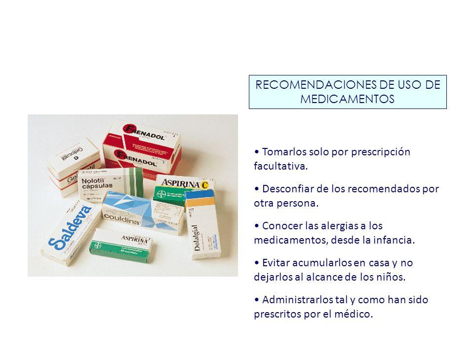 RECOMENDACIONES DE USO DE MEDICAMENTOS