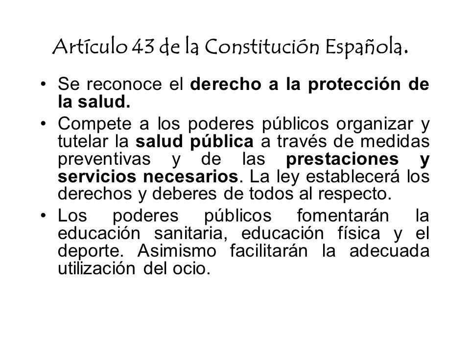 Artículo 43 de la Constitución Española.