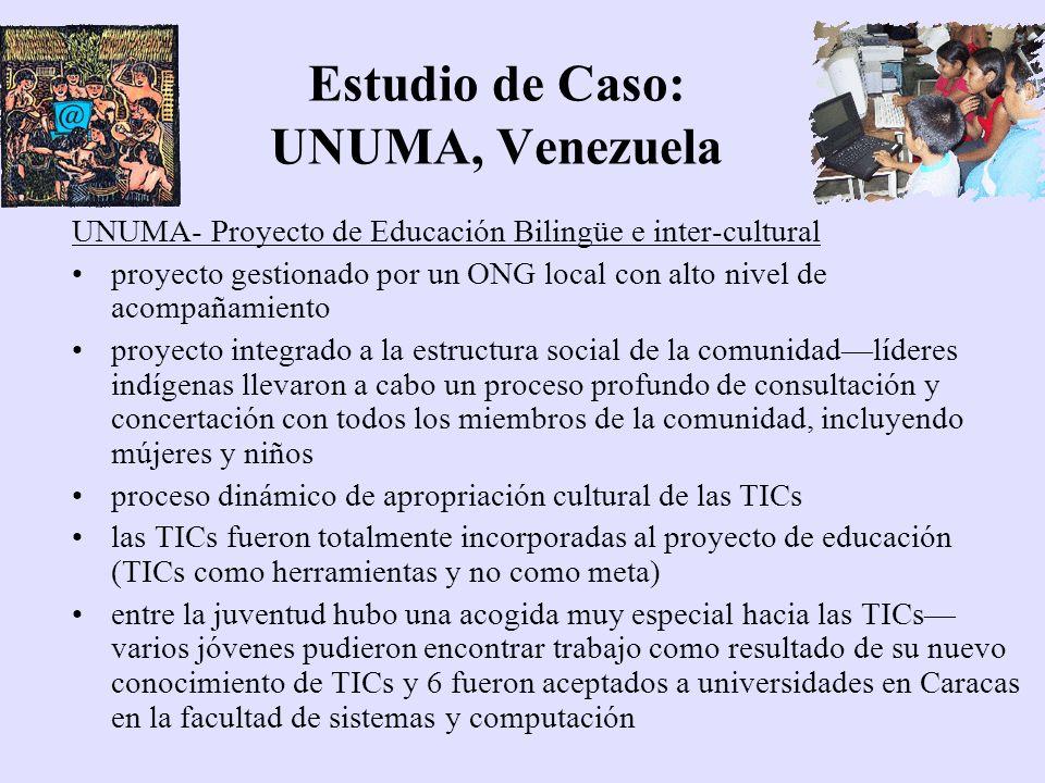 Estudio de Caso: UNUMA, Venezuela