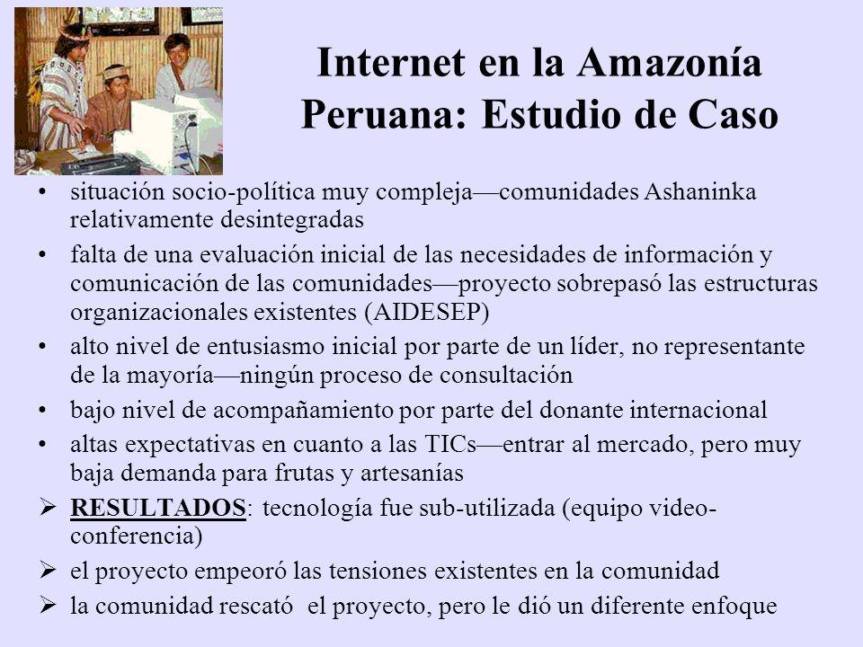 Internet en la Amazonía Peruana: Estudio de Caso
