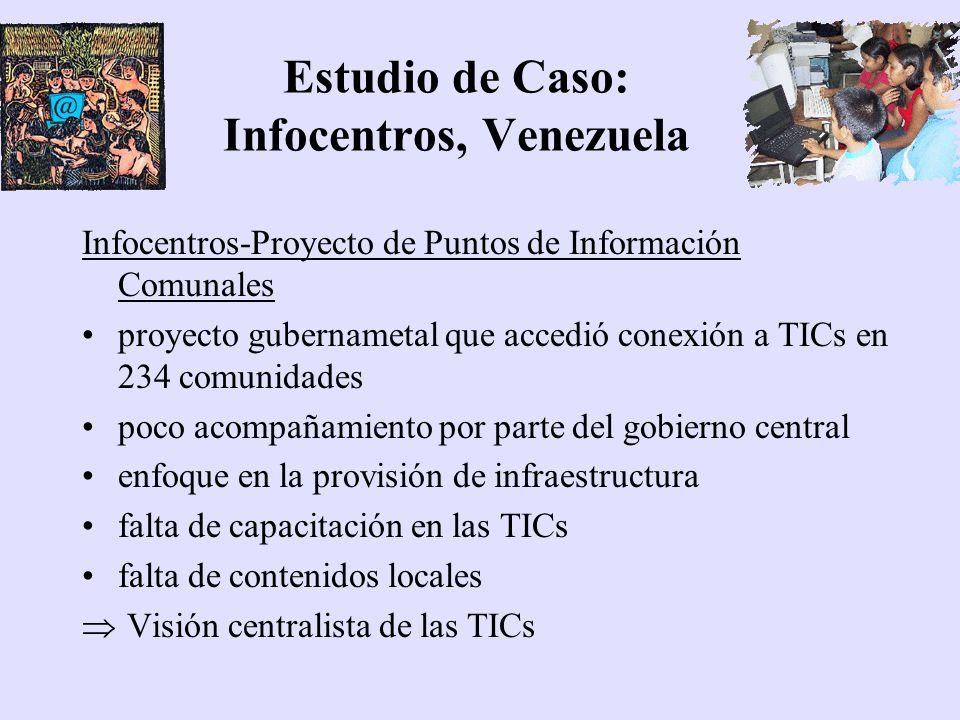 Estudio de Caso: Infocentros, Venezuela