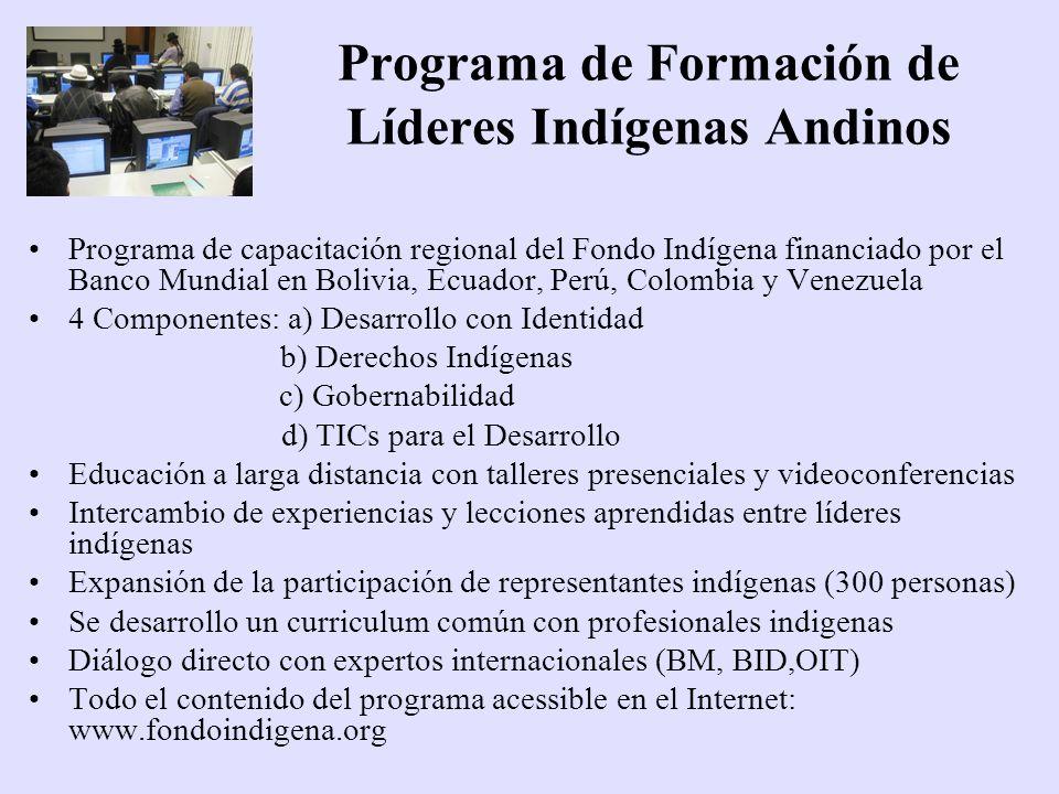 Programa de Formación de Líderes Indígenas Andinos