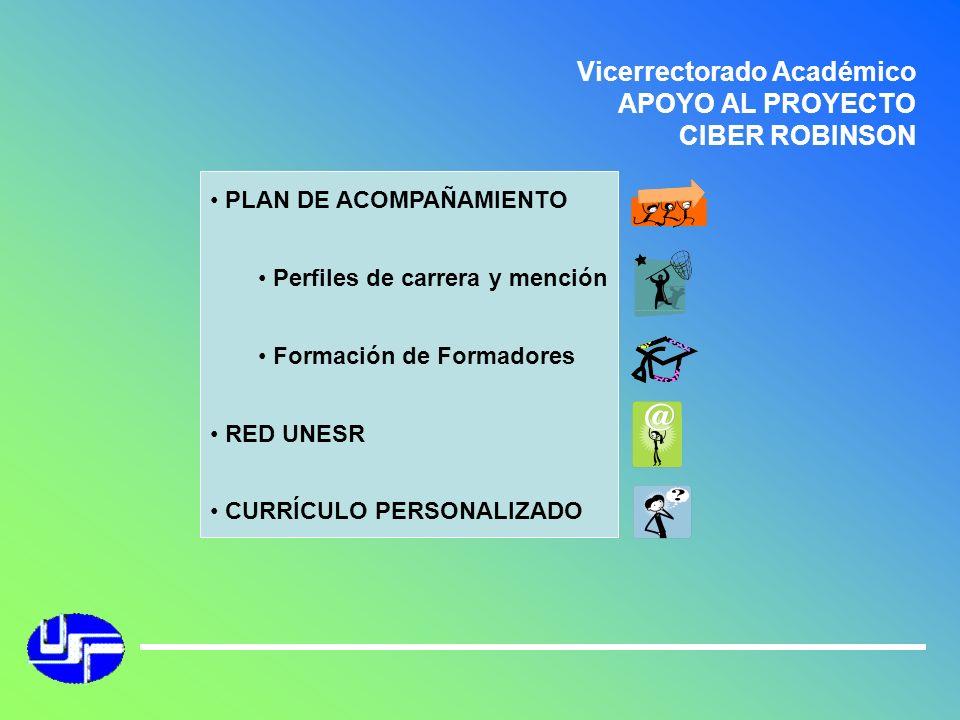 Vicerrectorado Académico APOYO AL PROYECTO CIBER ROBINSON