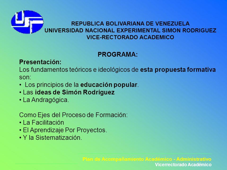 Los principios de la educación popular. Las ideas de Simón Rodríguez