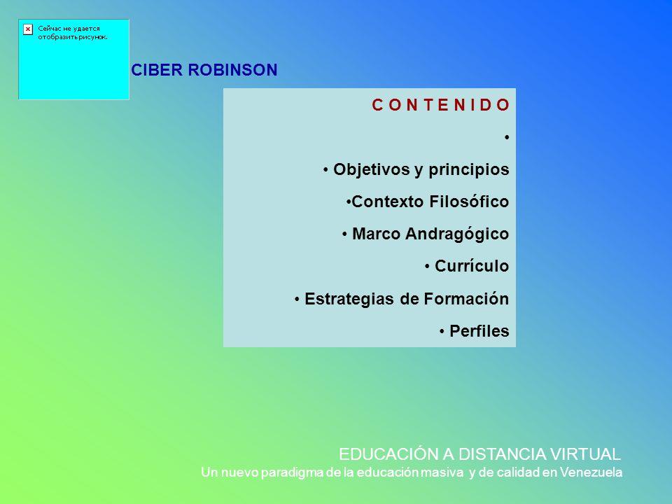 Objetivos y principios Contexto Filosófico Marco Andragógico Currículo