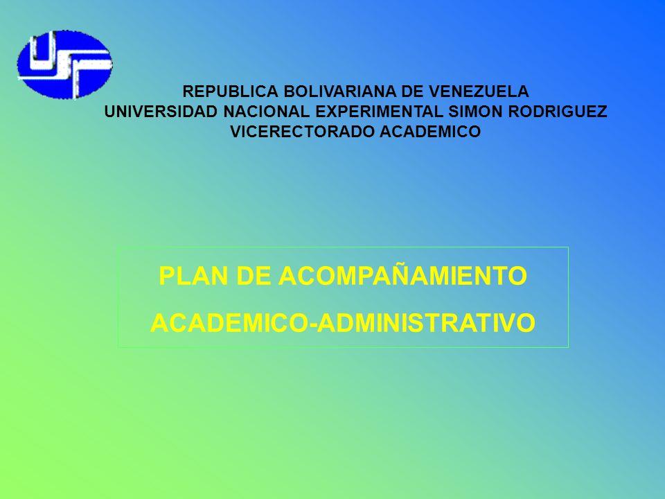 PLAN DE ACOMPAÑAMIENTO ACADEMICO-ADMINISTRATIVO