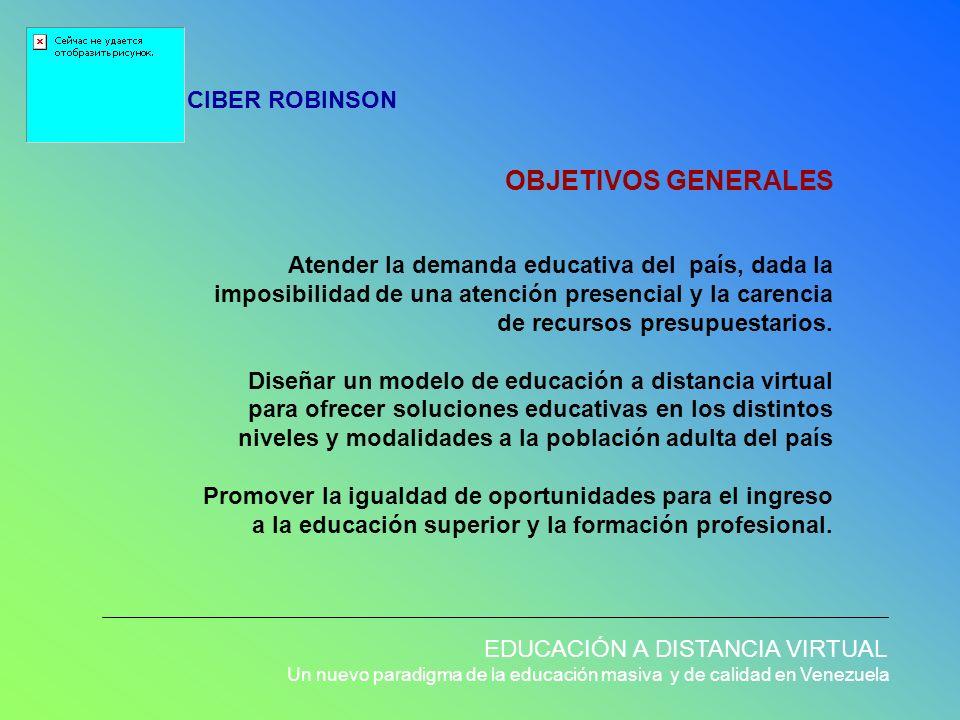 OBJETIVOS GENERALES CIBER ROBINSON