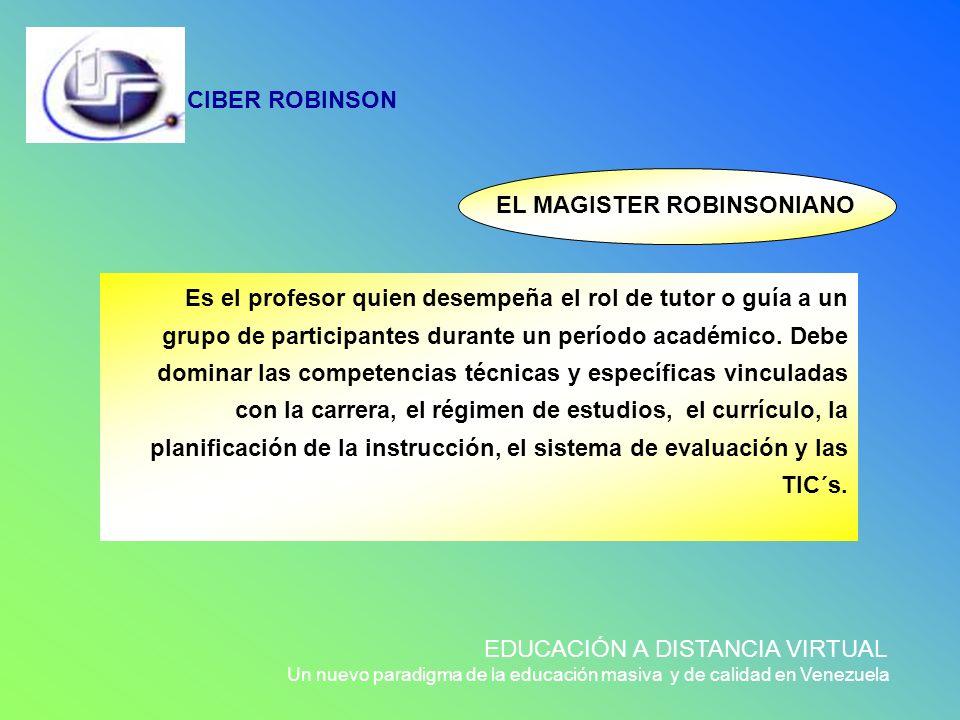 EL MAGISTER ROBINSONIANO
