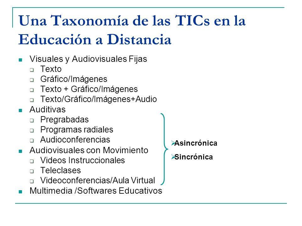 Una Taxonomía de las TICs en la Educación a Distancia