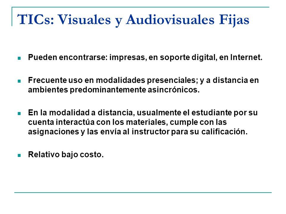 TICs: Visuales y Audiovisuales Fijas