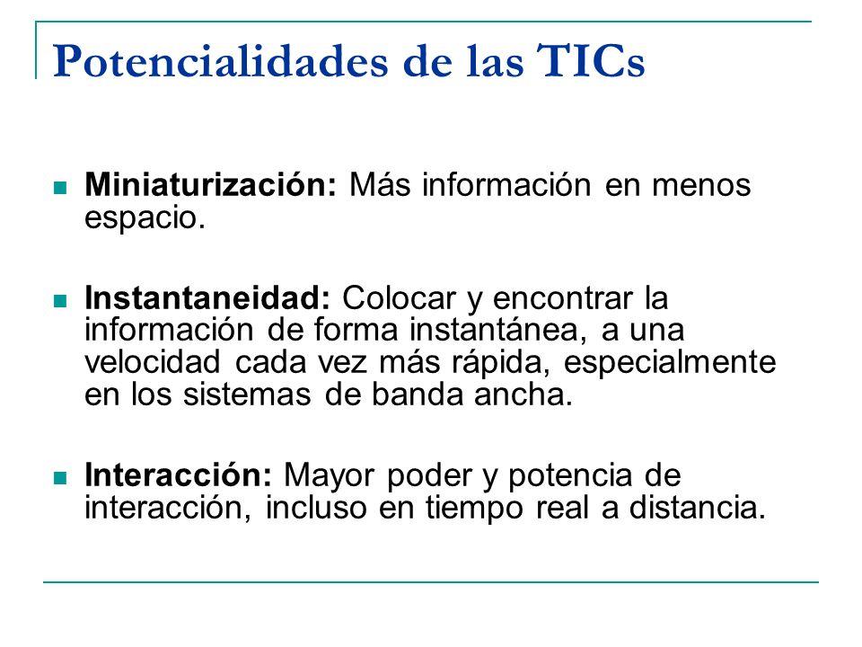 Potencialidades de las TICs