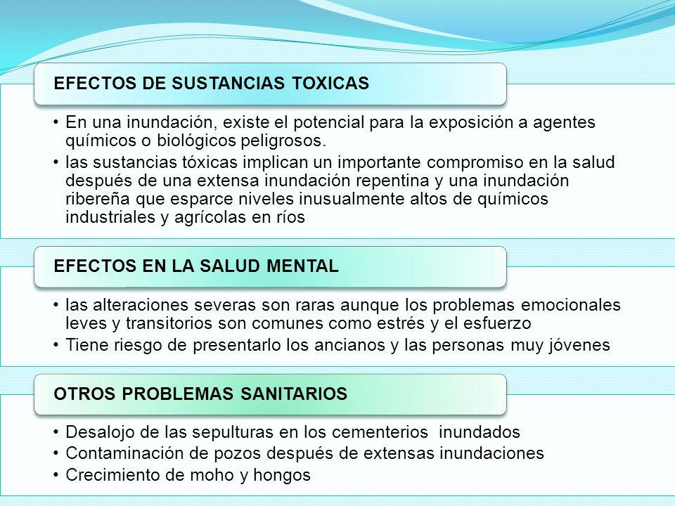 EFECTOS DE SUSTANCIAS TOXICAS