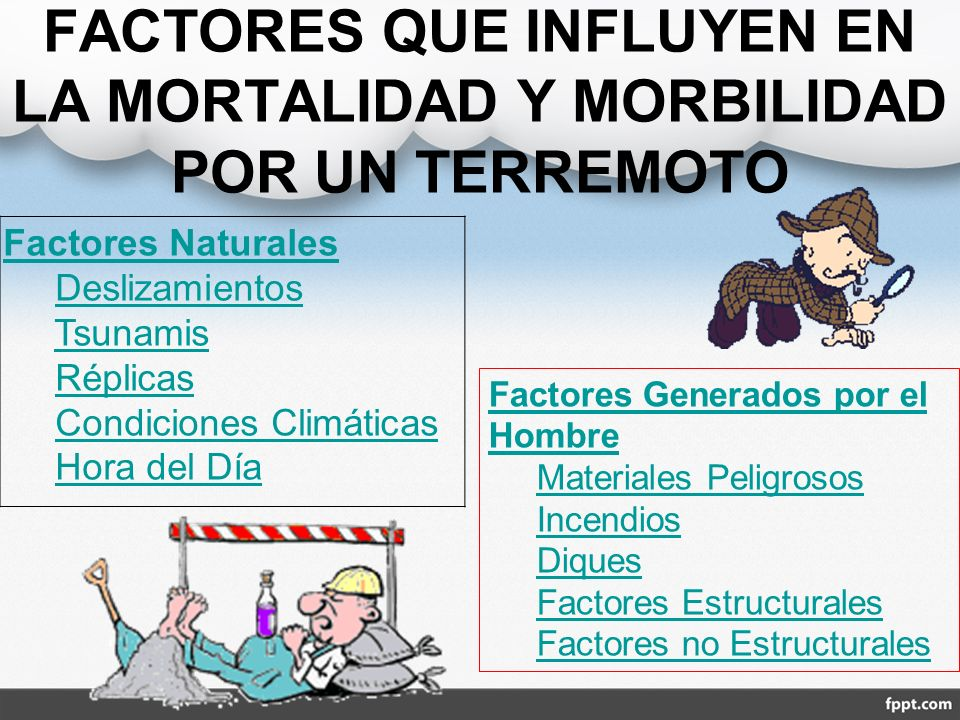 FACTORES QUE INFLUYEN EN LA MORTALIDAD Y MORBILIDAD POR UN TERREMOTO