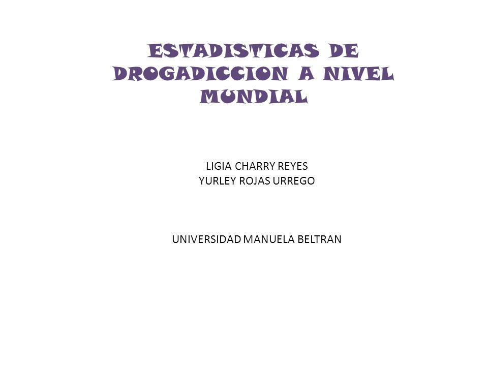 ESTADISTICAS DE DROGADICCION A NIVEL MUNDIAL