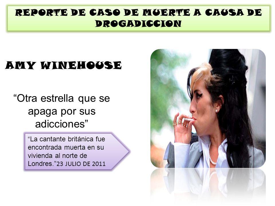 REPORTE DE CASO DE MUERTE A CAUSA DE DROGADICCION