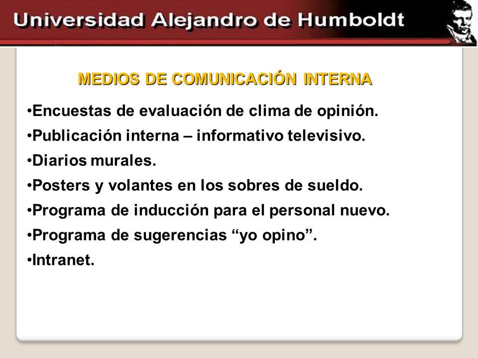 MEDIOS DE COMUNICACIÓN INTERNA