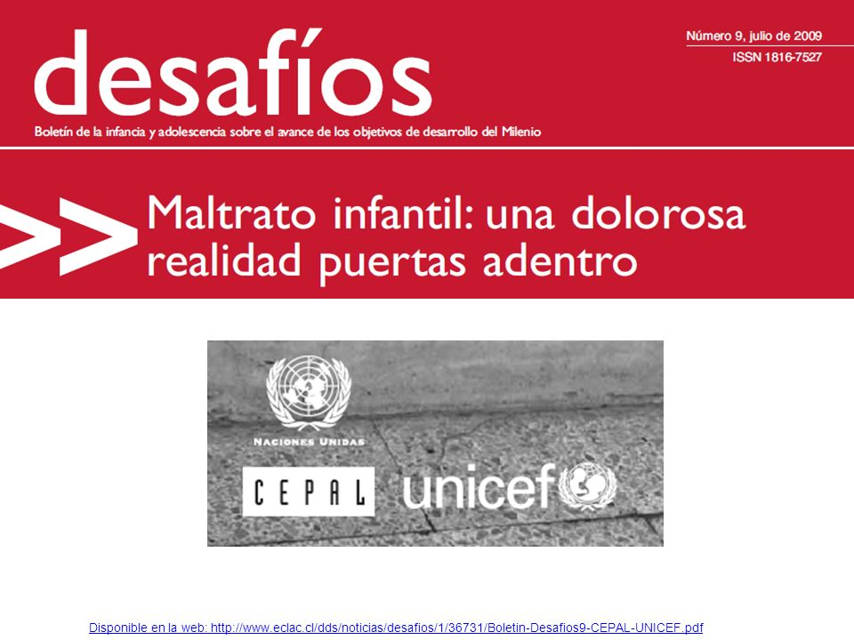 Disponible en la web: http://www. eclac