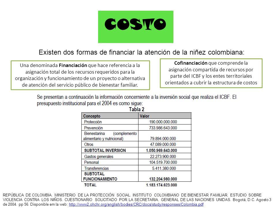 Existen dos formas de financiar la atención de la niñez colombiana:
