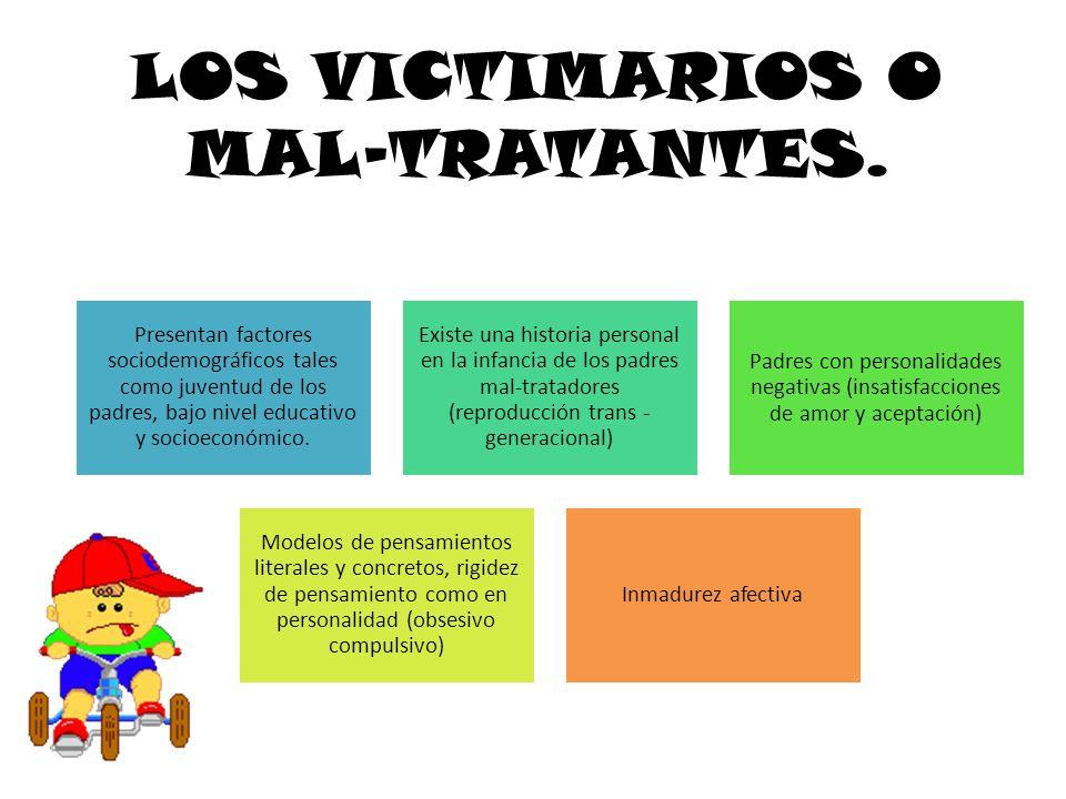 LOS VICTIMARIOS O MAL-TRATANTES.