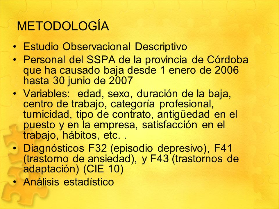 METODOLOGÍA Estudio Observacional Descriptivo