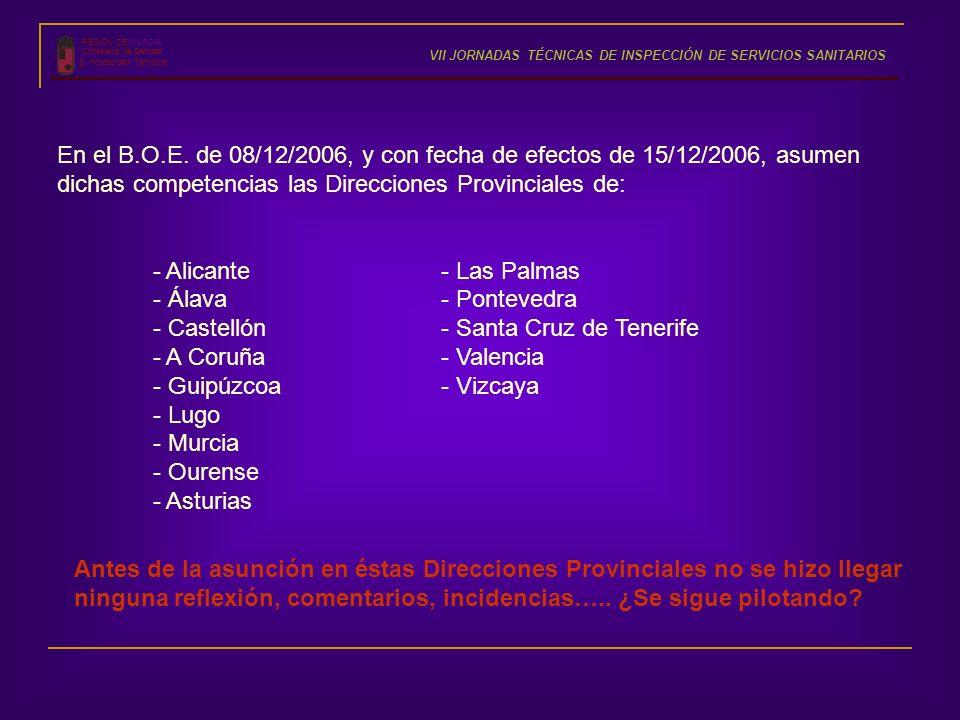 dichas competencias las Direcciones Provinciales de:
