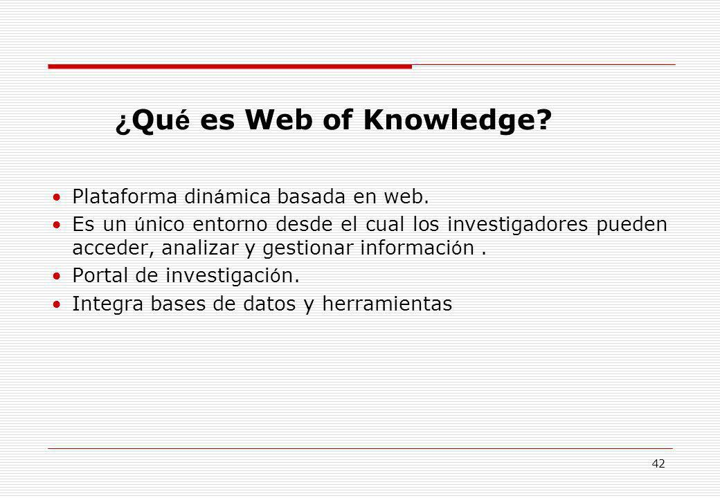 ¿Qué es Web of Knowledge