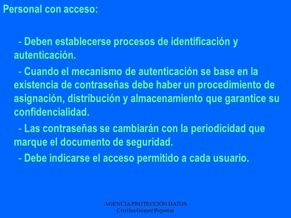 AGENCIA PROTECCIÓN DATOS Cristina Gómez Piqueras