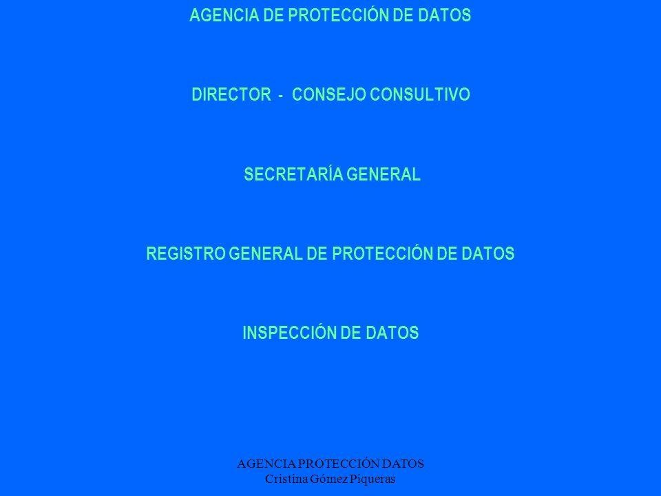 AGENCIA DE PROTECCIÓN DE DATOS DIRECTOR - CONSEJO CONSULTIVO