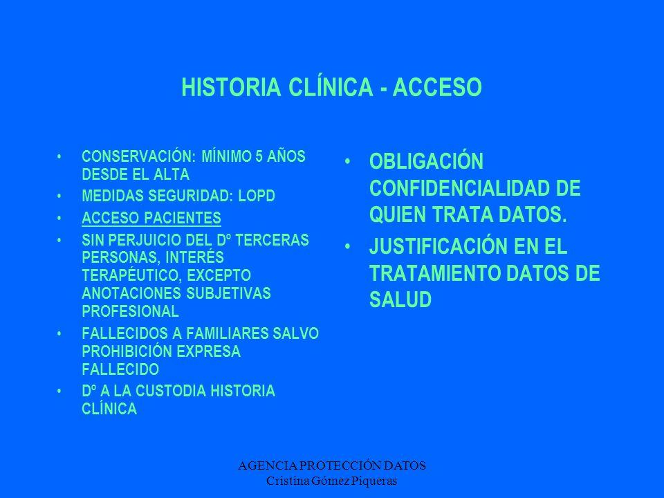HISTORIA CLÍNICA - ACCESO