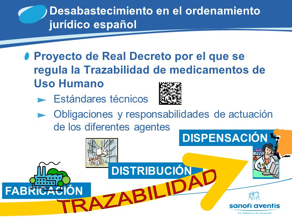 TRAZABILIDAD Desabastecimiento en el ordenamiento jurídico español
