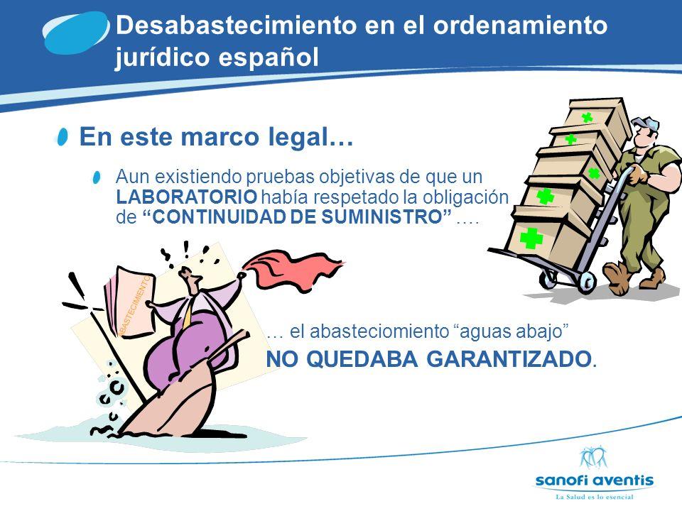 Desabastecimiento en el ordenamiento jurídico español