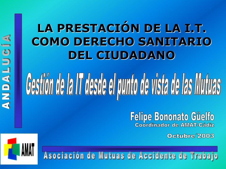 LA PRESTACIÓN DE LA I.T. COMO DERECHO SANITARIO DEL CIUDADANO