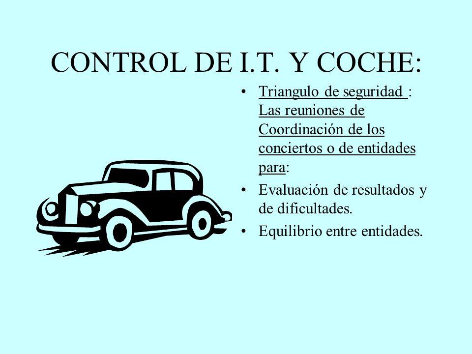 CONTROL DE I.T. Y COCHE: Triangulo de seguridad : Las reuniones de Coordinación de los conciertos o de entidades para: