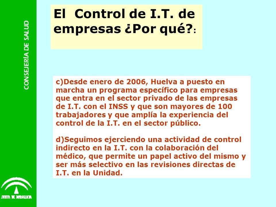 El Control de I.T. de empresas ¿Por qué :