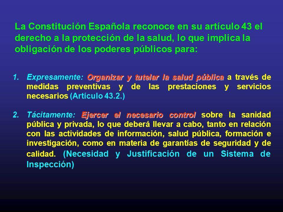 La Constitución Española reconoce en su artículo 43 el derecho a la protección de la salud, lo que implica la obligación de los poderes públicos para: