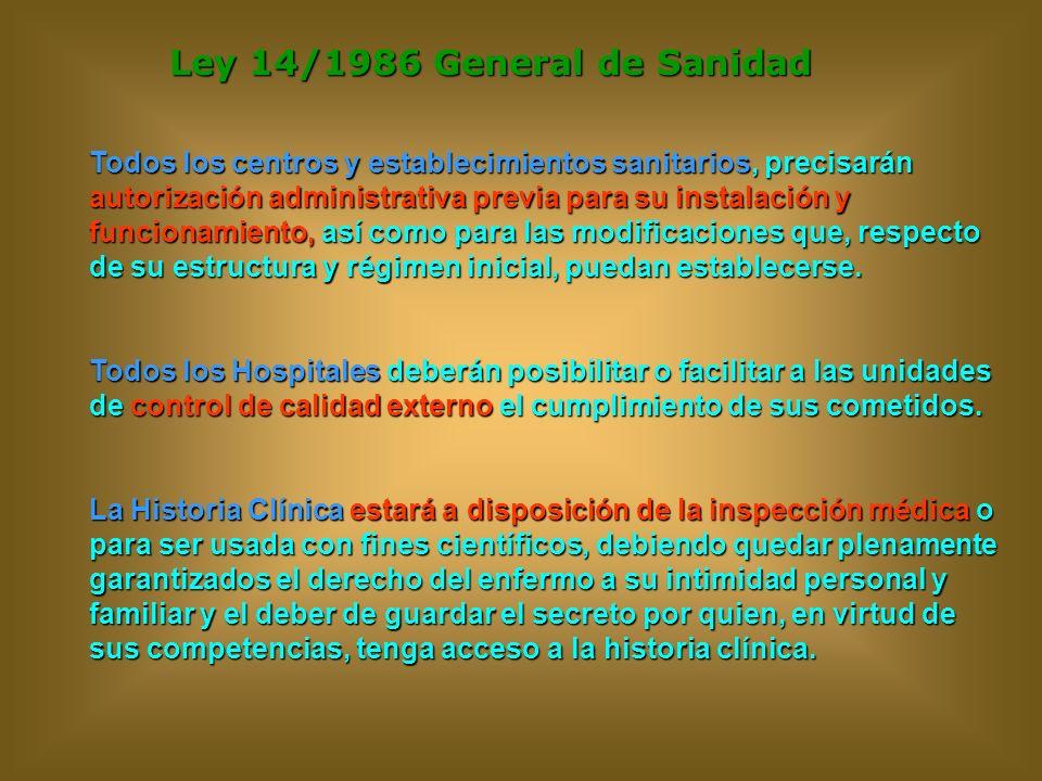 Ley 14/1986 General de Sanidad