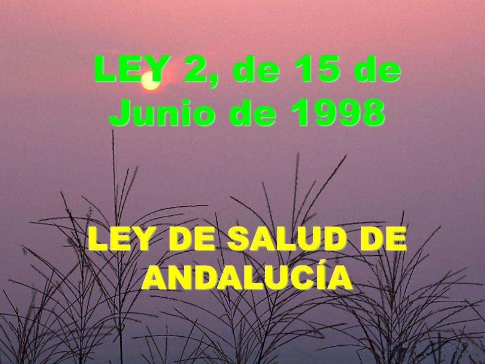 LEY DE SALUD DE ANDALUCÍA